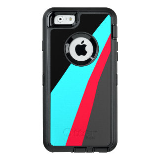 Black Blue Red Gray Pattern OtterBox Defender iPhone Case