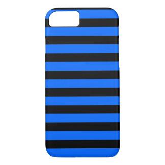 Black Blue Stripes horizontal  iPhone 7 case