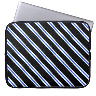 Black Blue Stripes Laptop Sleeve