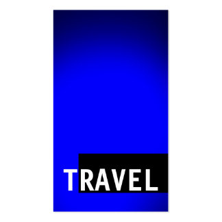 Black Blue Travel Agent Business Card