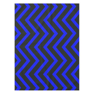 Black blue trendy Chevron  tablecloth