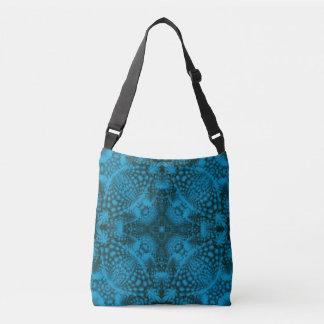 Black & Blue Vintage Kaleidoscope   Cross Body Bag