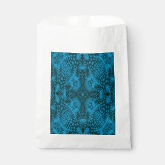 Black & Blue Vintage Kaleidoscope    Favor Bags