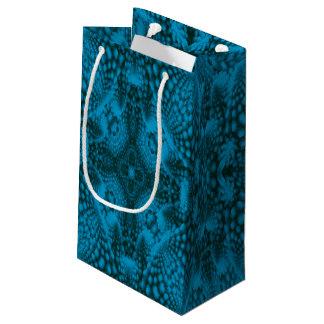 Black & Blue Vintage Kaleidoscope Small Gift Bag