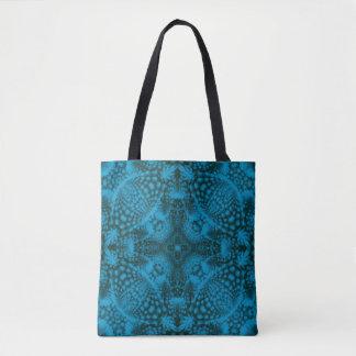 Black & Blue Vintage Kaleidoscope     Tote Bag