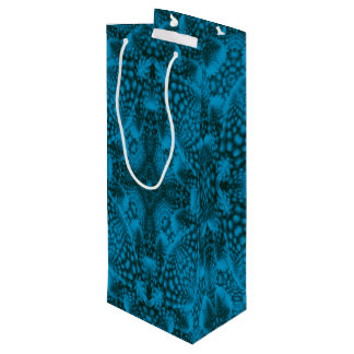 Black & Blue Vintage Kaleidoscope  Wine Bags