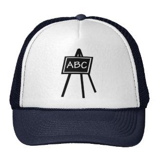 Black board hats