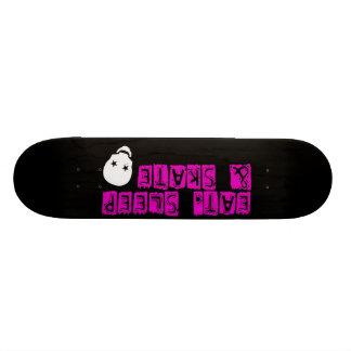 black boardskull skate board deck