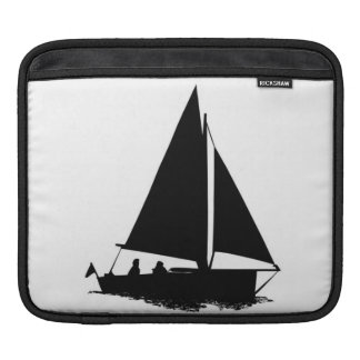 Black Boat Silhouette Kindle ipad Case
