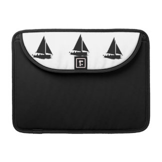 Black Boat Silhouette Macbook Case