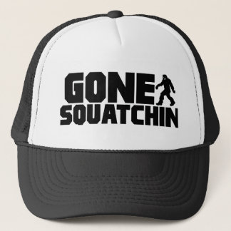 Black Bobo GONE SQUATCHIN Hat Finding Bigfoot
