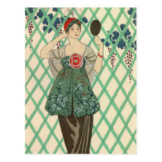 Black Bodice by George Barbier Post Card