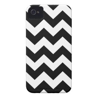 Black Bold Chevron Stripes iPhone 4 Covers