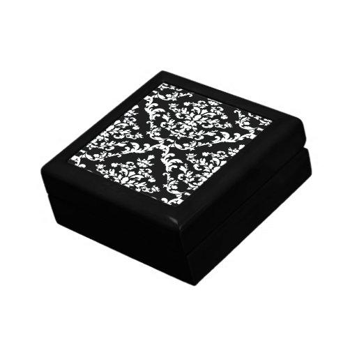 Black Bold Damask @ Emporiomoffa Jewelry Box