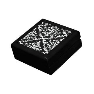 Black Bold Damask @ Emporiomoffa Small Square Gift Box