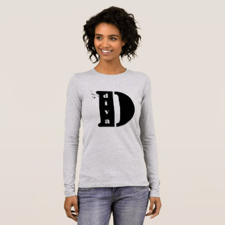 Black Bold Letter D-diva Long Sleeve T-Shirt