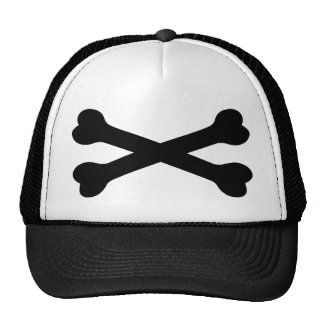 black bones crossed - death trucker hats
