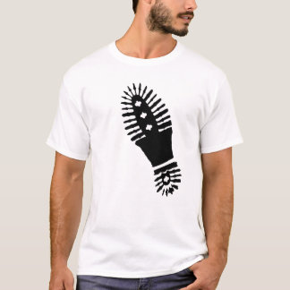 Black Bootprint (large) T-Shirt