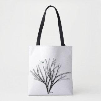 Black Bouquet Tote Bag