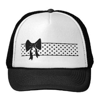 Black bow and polka dots hat
