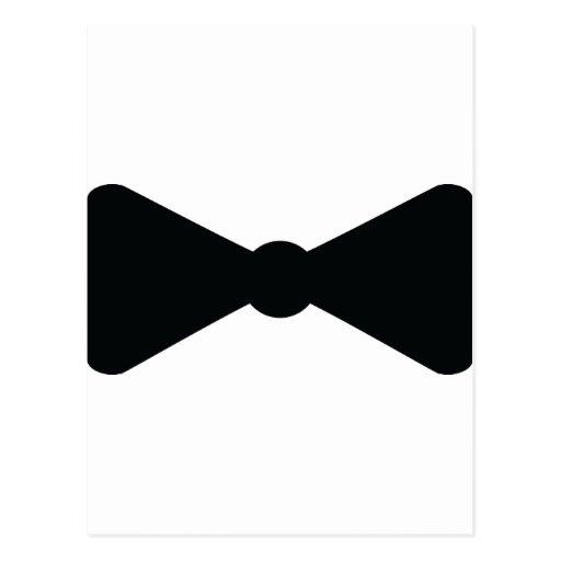 black bow tie icon postcard