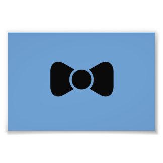 Black bow tie photo print