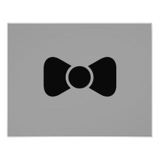 Black bow tie photographic print