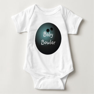 Black Bowling Ball Baby Shirt