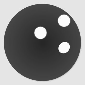 Black Bowling Ball Classic Round Sticker