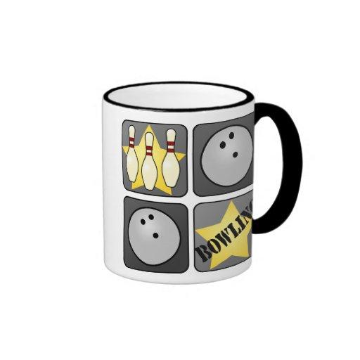 Black Bowling Ringer Mug