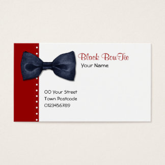 Black BowTie Business Card