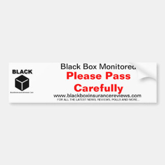 Black Box Car Sticker - Please Pass Carefully Bumper Sticker