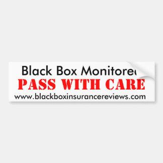 Black Box Monitored - Pass With Care Bumper Sticker