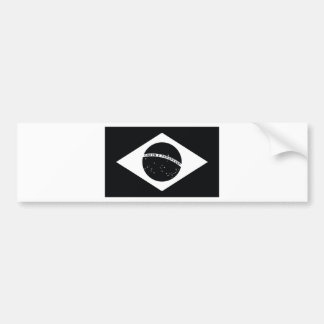 Black Brazil Country Flag Bumper Sticker