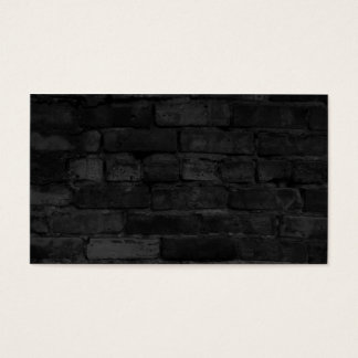 Black Brick Wall background Business Card