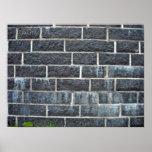Black Brick Wall Texture Posters