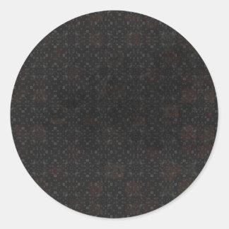 Black Bricks Background Round Stickers