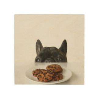 Black Brindle French Bulldog Wood Print