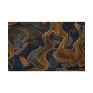Black Brown Abstract  EDITABLE COLORS Canvas Print