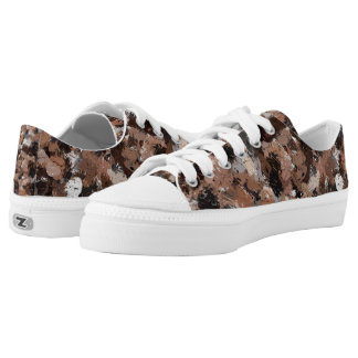 Black, Brown and Gray Paint Splatters 2792 Low Tops