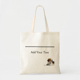 Black Brown and White Beagle Dog Totebag Budget Tote Bag