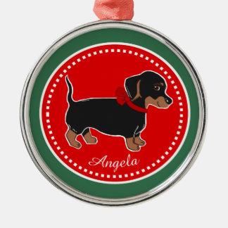 Black Brown Dachshund Custom Premium Ornament