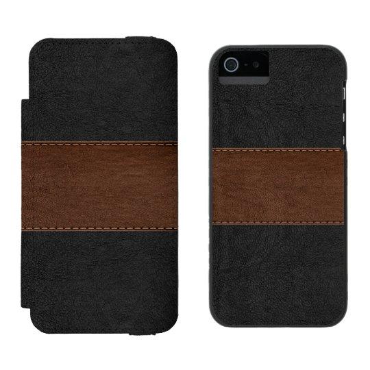 Black & Brown Vintage Leather Texture Incipio Watson™