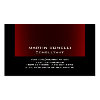 Black Browny Red Indestructible Plain Clean Pack Of Standard Business Cards