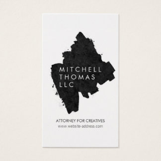 Black Brush Strokes on Gold Creative Professional Business Card