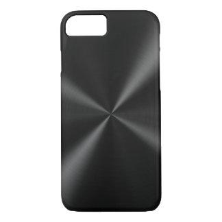 Black Brushed Metal iPhone 7 Case