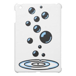 Black bubbles with blue reflection iPad mini cases