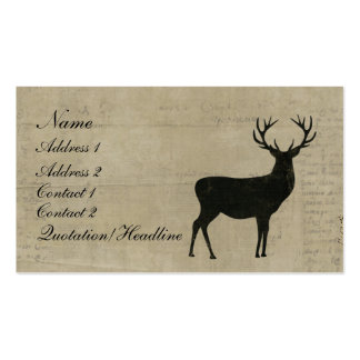 Black Buck Silhouette Business Card/Tags