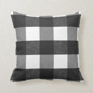 Black Buffalo Check Throw Pillow