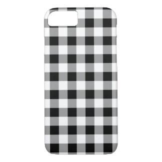 Black Buffalo Plaid White iPhone 8/7 Case